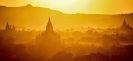 Solnedgang. Bagan. Burma
